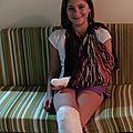 Maylis au retour de l'hôpital 1