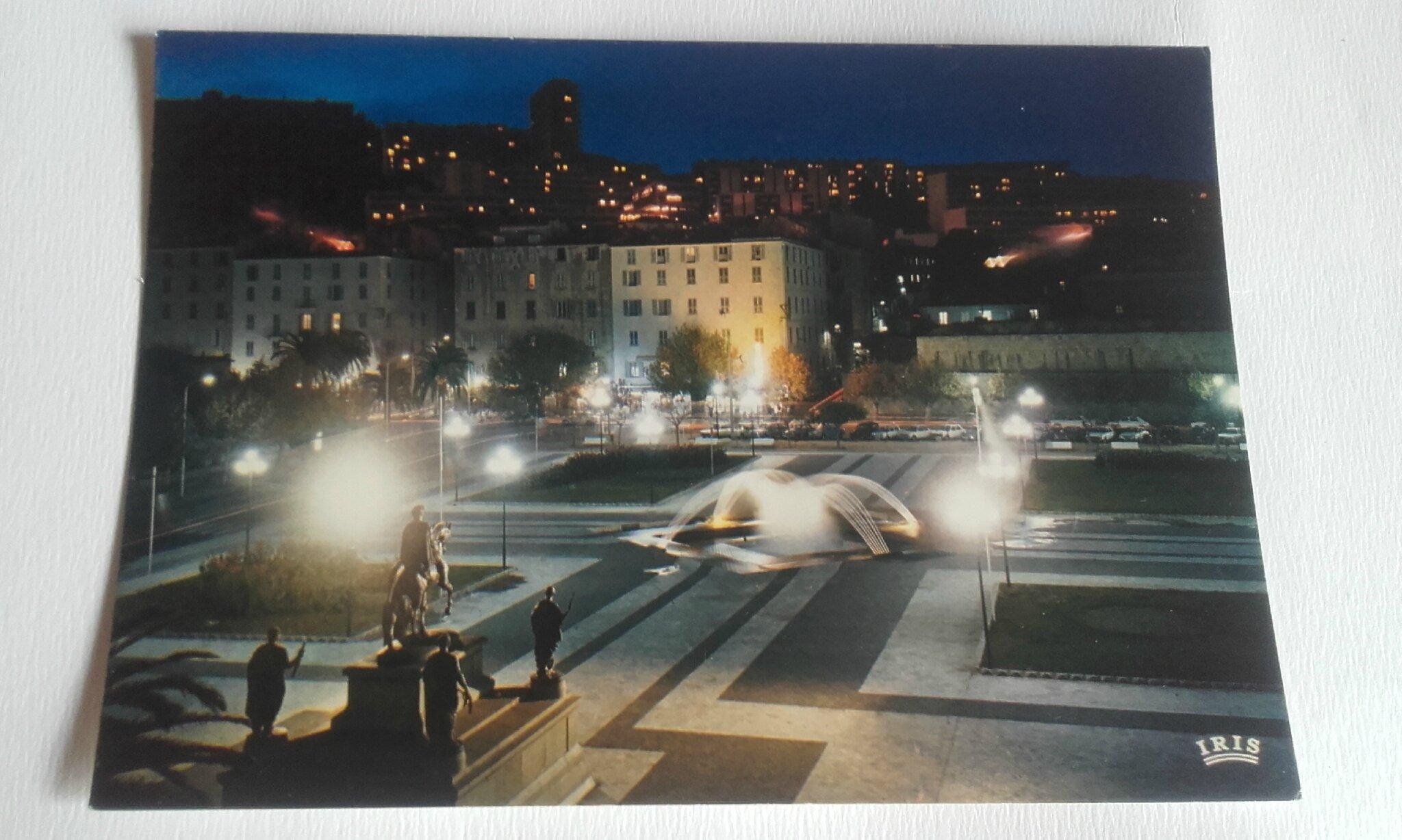 Ajaccio Place de Gaulle datée 1974