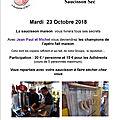 23 octobre 2018 atelier saucisson sec