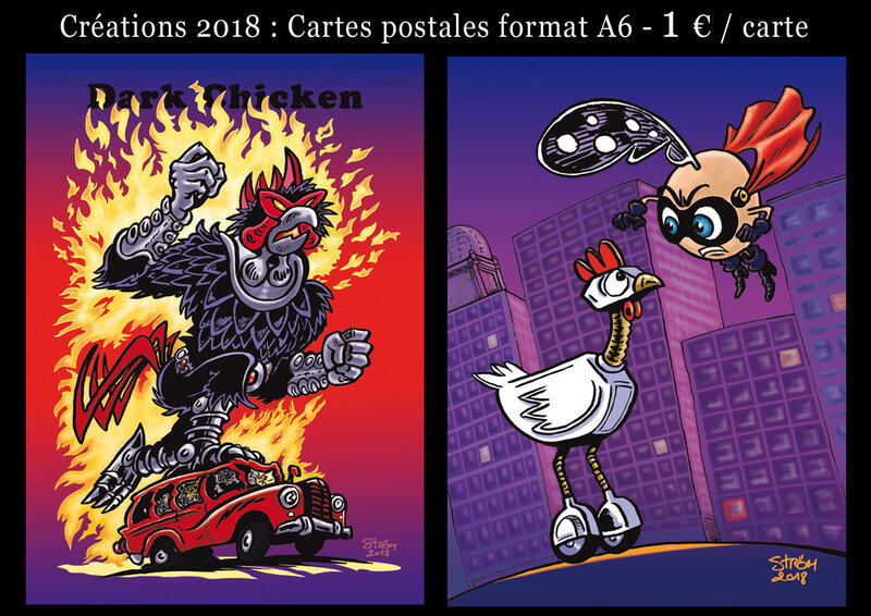 Cartes postales Dark Chicken-Mécapoule