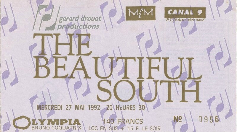1992 05 The Beautiful South Olympia Billet