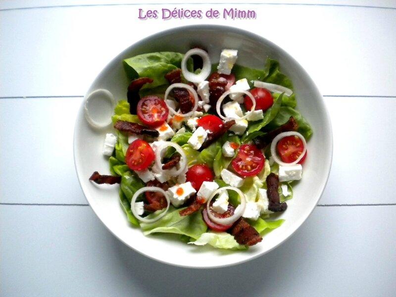 Salade feta et ventrêche croustillante