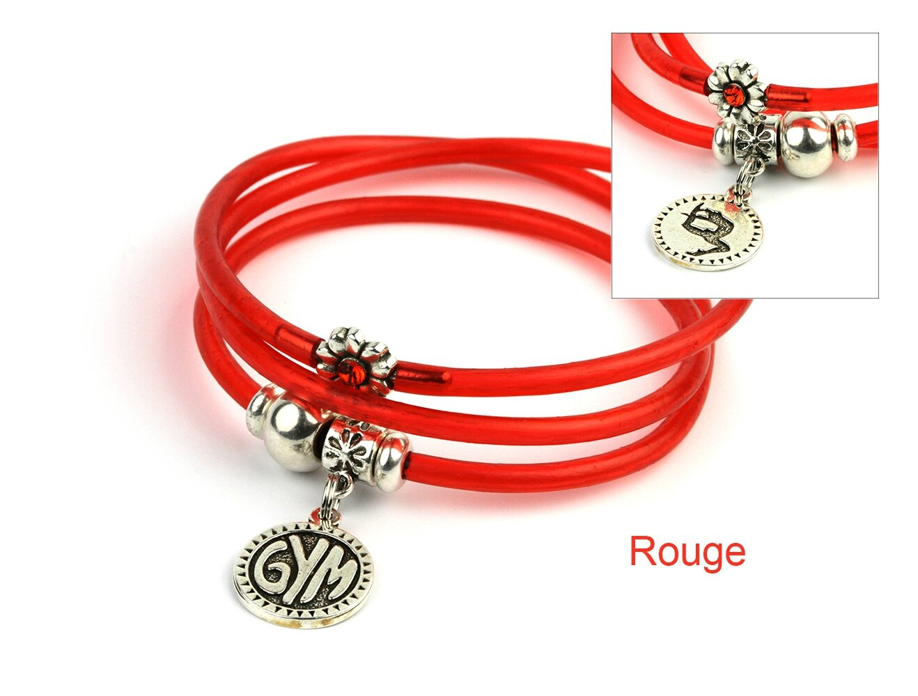 bracelet mia gym rouge