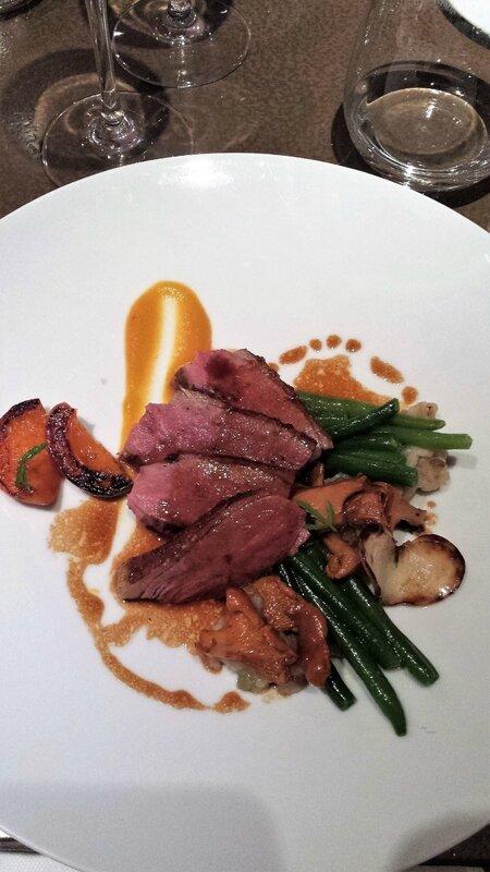 2017 08 23 (55) dîner à Loiseau des sens - canette abricot et haricot vert