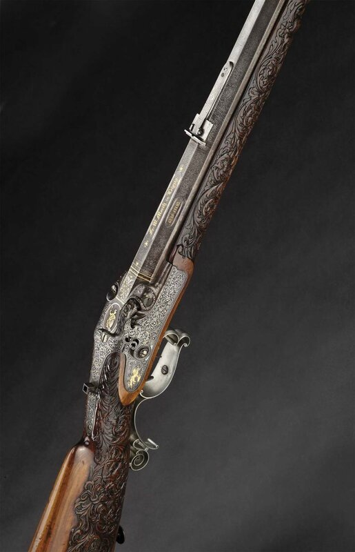 A heavy deluxe percussion target rifle, Moritz in Leipzig, circa 1840