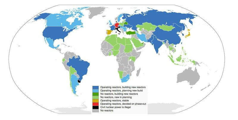 energie-Nuclear power by country