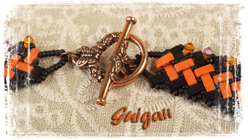 296 Collier Azteca noir_orange (2)