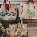 Derniers nés des sacs de plage xxl provenance des sacs à café : inde, brésil et côte d'ivoire - réversible - modèle unique