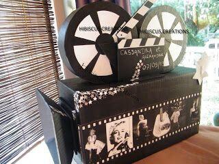 Urne camera thème cinéma