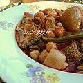 ( khammourya ) plat de tripes aux oignons et vinaigre / recette aïd el adha