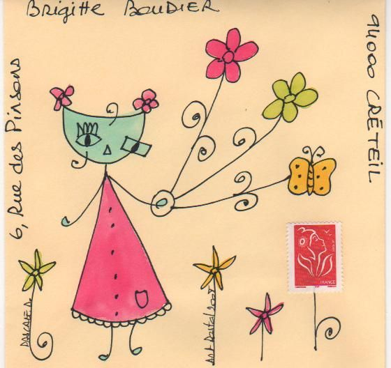 Mailart pour Mamipomme