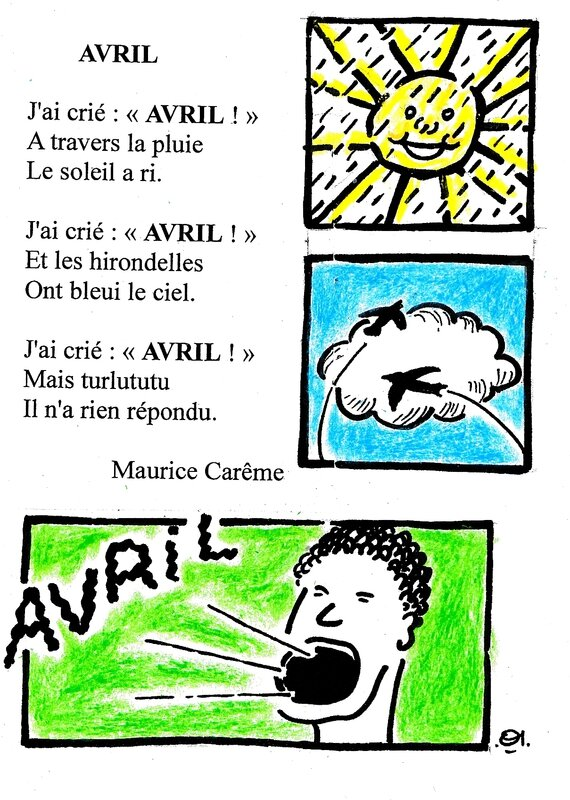 comptine avril