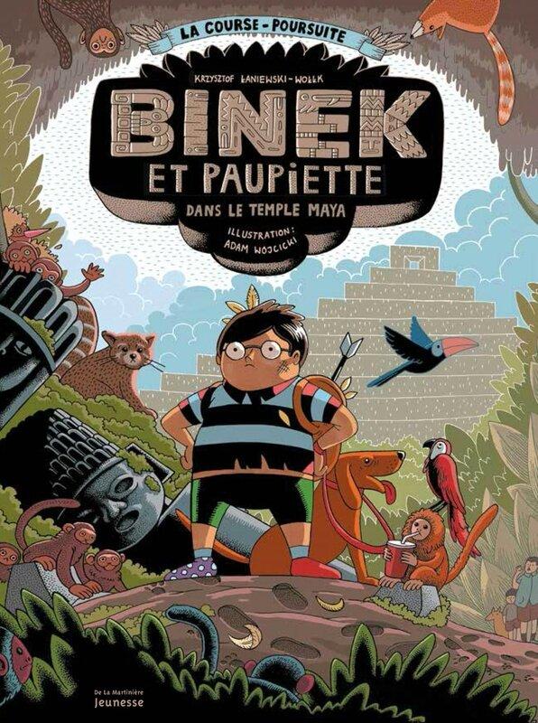 Binek et Paupiette dans le temple maya