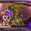 le parfum, c'est l'âme des fleurs + tutoriel graphisme sur paint shop pro