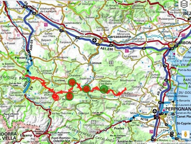 Carte D Rouffiac de Corbières-Foix