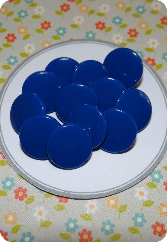Bouton pression résine bleu marine