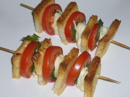 croque tomate mozza