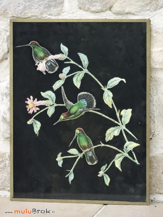 GRAVURE-COLIBRIS-2-Oiseaux-muluBrok-Vintage