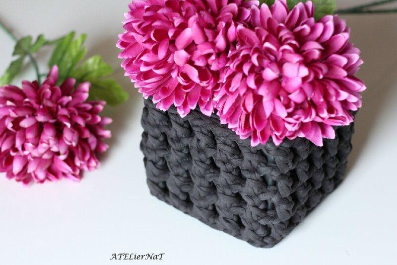 Cache-pot crochet ajouré gris3_1