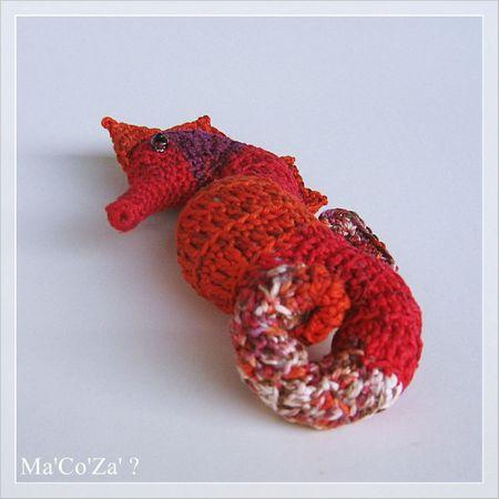 hippocampe seahorse au crochet perspective