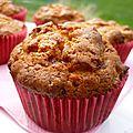 Muffins aux pommes et éclats de caramel