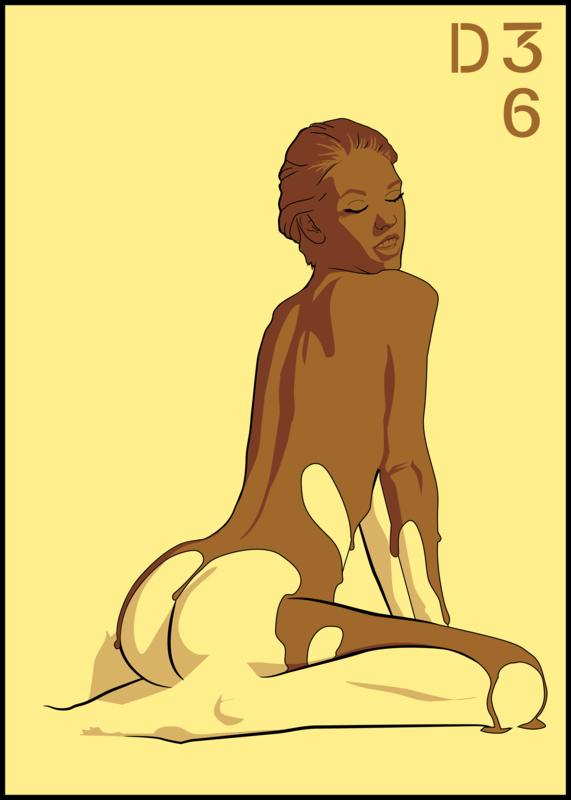 dtrentesix coulure femme à genoux chocolat 2