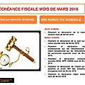 Échéance fiscale mois de mars / drc march tax schedule