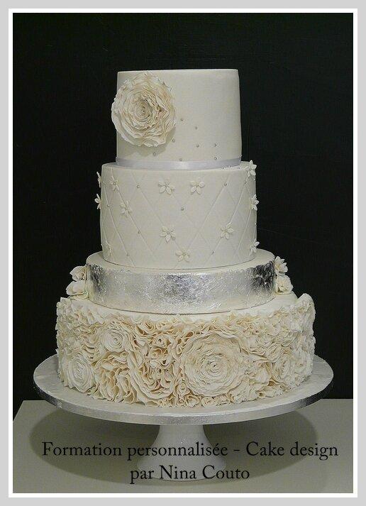 wedding cake blanc argent nimes Angelique 6;