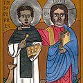 Jésus et Saint Martin de Porrès