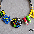 Collier école multicolore 29.50€
