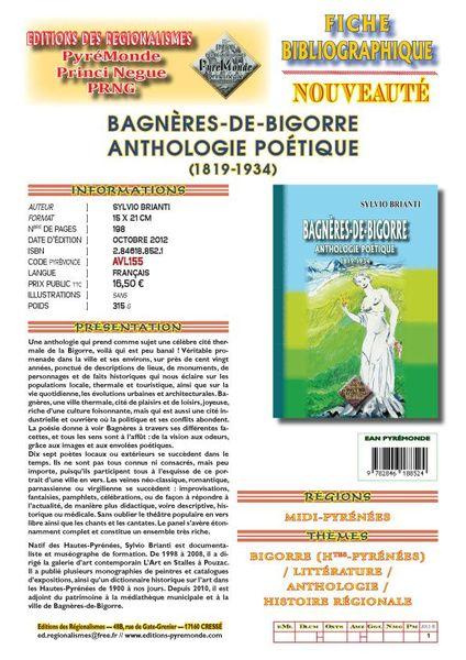 Fiche Bagnères-de-Bigorre Anthologie copie