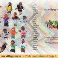 Un village maya - 2e de couv et page 1