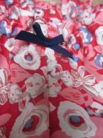 Culotte BIANCA en coton rouge fleuri ecru rose gris ciel (3)