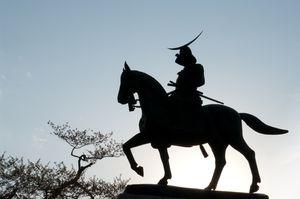 Statue de Date Masamune à Sendai