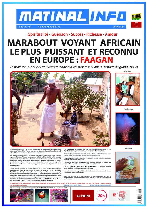 LE MEILLEUR MARABOUT VOYANT COMPETENT DE RETOUR D'AFFECTION MAGE FAAGAN DISPONIBLE POUR VOUS