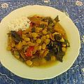 Potage andaluz de morue aux pois chiches et aux blettes - potaje de vigilia de bacalao y garbanzos