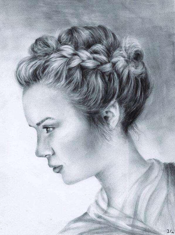Portrait à la tresse