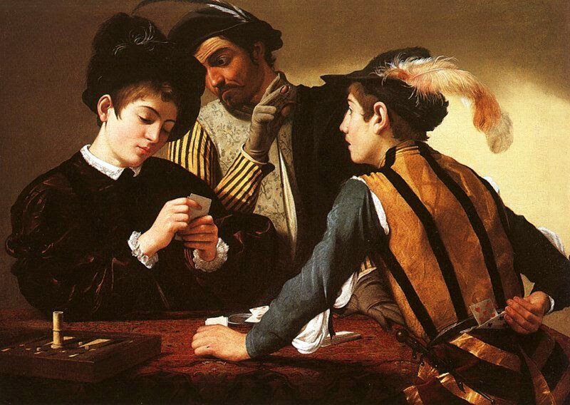 Le caravage, Les tricheurs, 1595