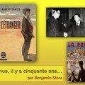 Il y a cinquante ans : albert camus reçoit le prix nobel de littérature… (benjamin stora)