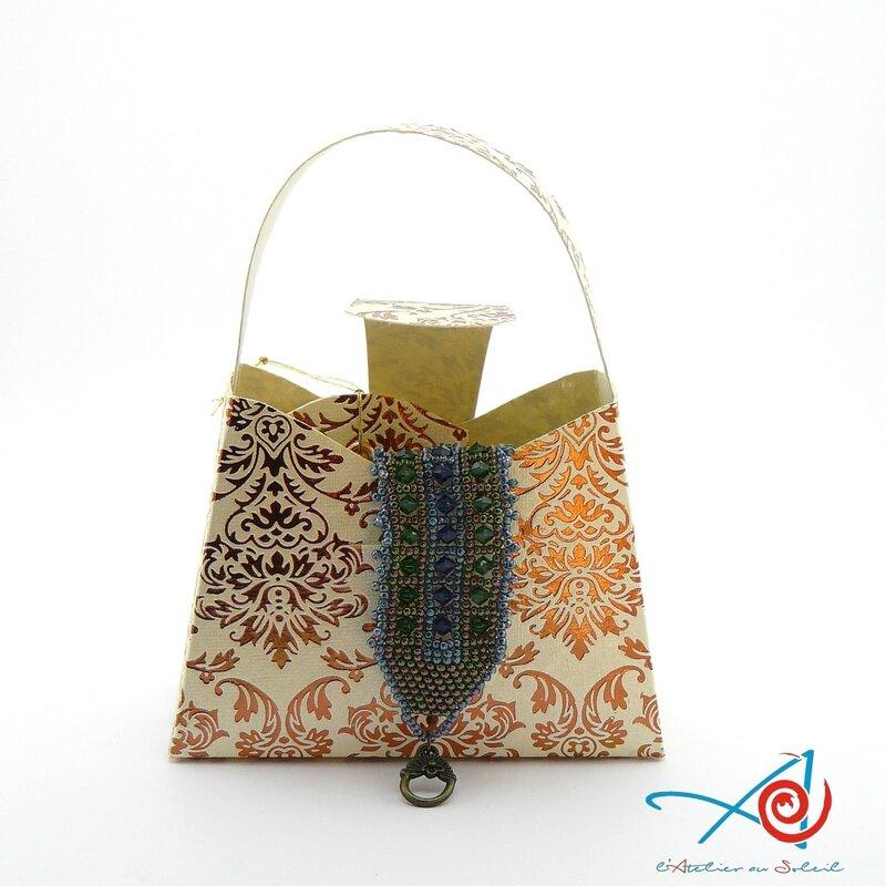 Carte-écrin sac à main feston avec bijou (Copier)