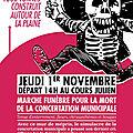 Marseille, la Manif' du 1/11/2018 contre le mur de La Plaine