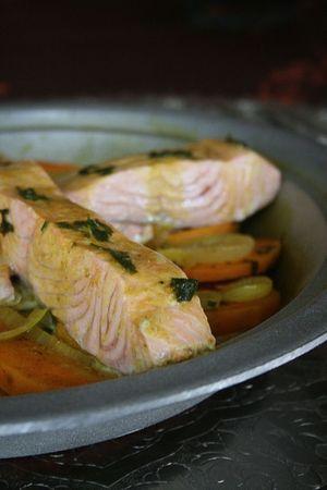 Tajine de saumon à la patate douce 1