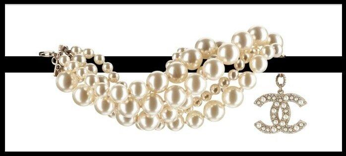 chanel perles de verre bracelet