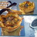 Tartelette aux crevettes , poireaux et cancoillote