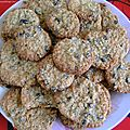 Cookies avoine-raisins