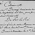 Ratier Duvergé Pierre, commissaire général des colonies, employé dans l'Inde et aux îles de France et de Bourbon 1783-1787