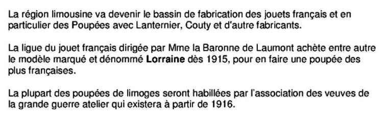 Poupées Limoges
