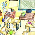 The classroom objects