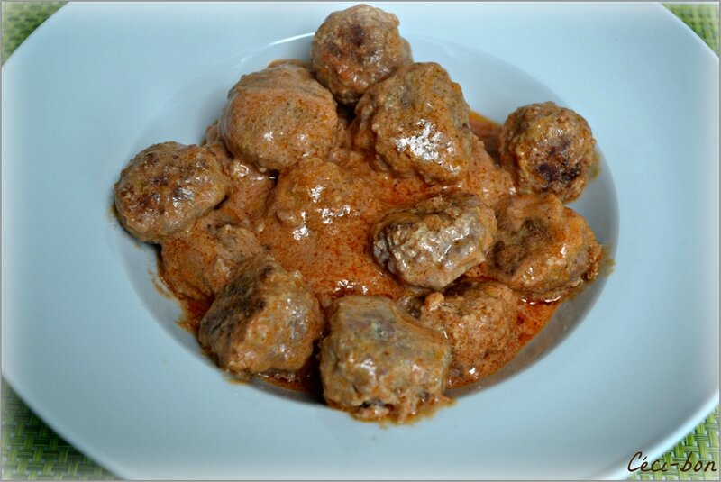 Boulettes curry, coco