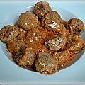 Boulettes au curry sauce tomates/coco